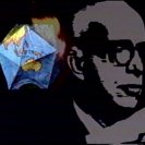 "still from ""Teleologic Telecast from Planet Earth: on board with Buckminster Fuller"". (c) Mick Gasheen, 1970."