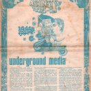 Front page of the Underground Media issue of Tharunka, with the article by Albie Thoms (see text)