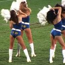 Anthea Behm, The Chrissy Diaries; Parramatta Eels Cheerleading Pre-squad, documentation of public performance, 2005, Parramatta Stadium, Sydney