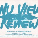 Flyer for NU VU Review