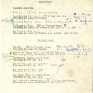 Technical notations on the programme for the April 1, 1976 performance. [collection: Stephen Jones]