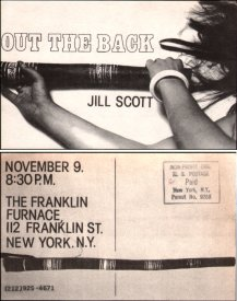 Franklin Furnace notice for Jill Scott's