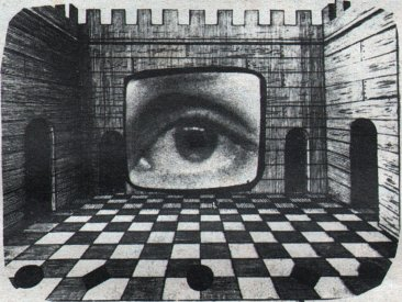 Illustration from Joseph El Khouri's article Inside a Memory Theatre in the Bush Video Tharunka, August 1973, p.3.