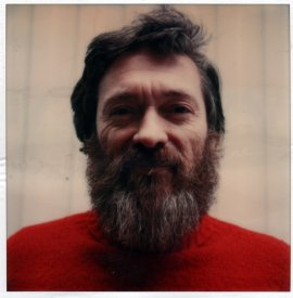 SX-70 portrait of Bruce Tolley. Image for the Videotapes from Australia catalogue.
