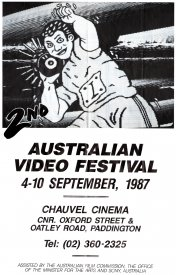 Programme sheet for the 2nd Australian Video Festival.