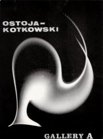 Electronic Drawing on the invitation card for Ostoja-Kotkowski's Gallery A show, 1966