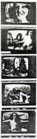 Series of frames from Glen Lewis's Mindfields from the catalogue for Project 30 (AGNSW) Some Recent Australian Videotapes.