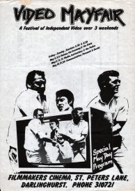 Front of the programme for the 3rd Video MayFair at the Sydney Filmmakers Co-op, May 1979.
