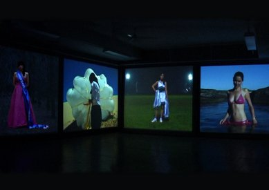Anthea Behm, The Chrissy Diaries,  four channel video installation, 2005, installation view