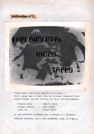Paste-up of flyer for Two Evenings of Experimetnal Video Tapes at the IMA, Brisbane