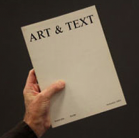 First issue Art & Text